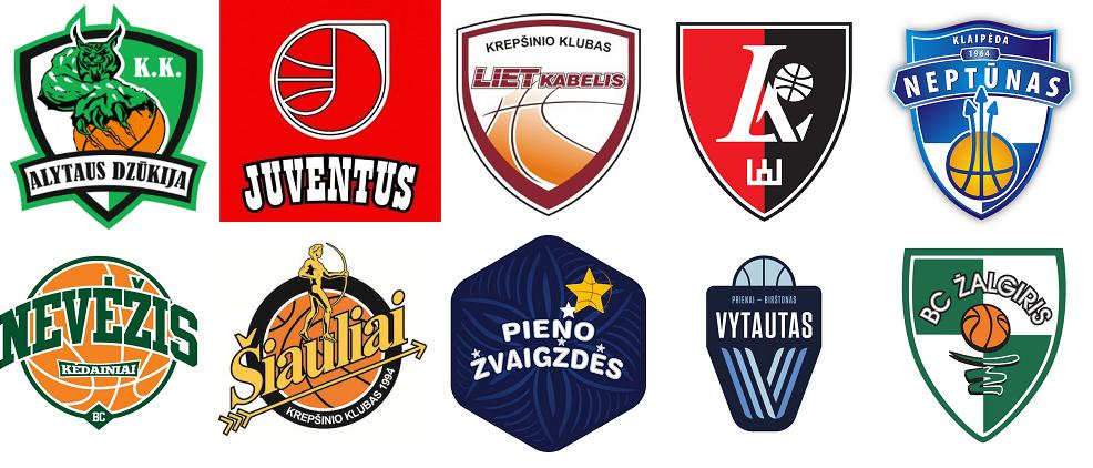 LKL klubu logotipai 1